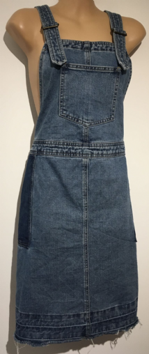 NEXT MATERNITY NURSING DENIM BUCKLE DUNGAREE DRESS UK 20